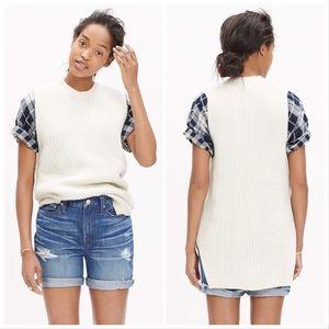 Madewell | Ivory Sleeveless Tunic Sweater Pullover